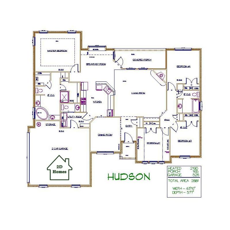 2d homes plans for Hudson home designs