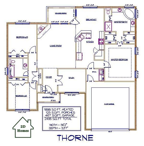 2d Homes Plans